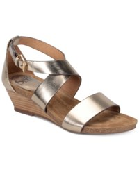Sofft Vita Wedge Sandals Women's Shoes Gold
