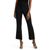 Alberta Ferretti Stretch Crepe Crop Flared Pants Black