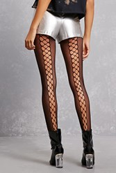 Forever 21 Illusion Lace Up Tights Black