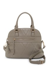 Urban Expressions Duke Vegan Leather Dome Satchel Brown
