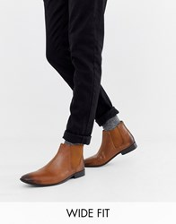 Kg By Kurt Geiger Wide Fit Leather Chelsea Boots Tan