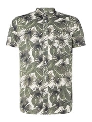 Criminal Java Print Short Sleeve Shirt Green