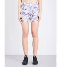 French Connection Comfort Marble Stretch Jersey Shorts Grey Marble