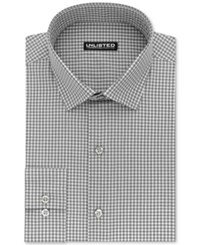 Unlisted Kenneth Cole Men's Slim Fit Check Dress Shirt Grey