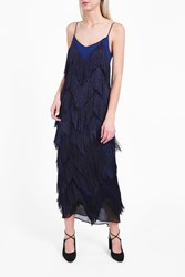 Galvan Women S Feria Long Fringe Dress Boutique1 Blue