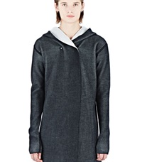 Rick Owens Hooded Woven Cardigan Black