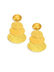 Gurhan Mango 24K Yellow Gold Layered Drop Earrings