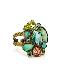 Sorrelli Gem Pop Cocktail Ring Green Multi
