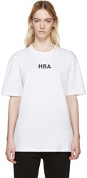 Hood By Air White Open Back Logo T Shirt