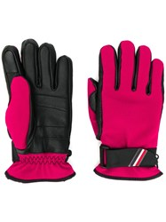 Moncler Grenoble Leather Panel Gloves Pink