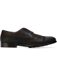 Dolce And Gabbana Brushed Oxford Shoes Grey