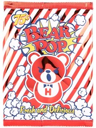 Hysteric Glamour Bear Popcorn Clutch Bag Red