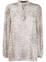 Luisa Cerano Dotted Print Blouse 60