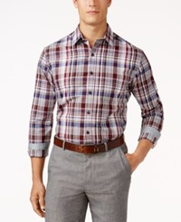 Tasso Elba Men's Plaid Shirt Only At Macy's Port Combo