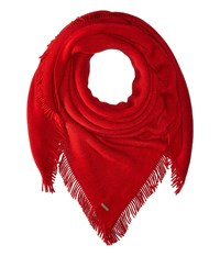 Calvin Klein Cashmere Like Acrylic Square Scarf Rouge Scarves Red
