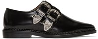 Toga Pulla Black Two Buckle Loafers