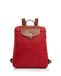Longchamp Le Pliage Backpack Deep Red Gold
