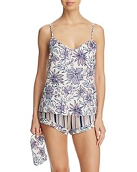 Sam Edelman Printed Cami And Shorts Set Antique White