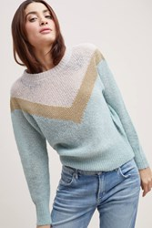 Leon And Harper Heida Chevron Striped Jumper Blue