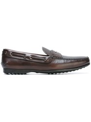 Car Shoe Classic Style Moccasins Brown
