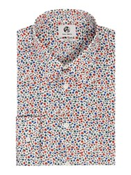 Paul Smith Men's Ps By Formal Ditsy Floral Shirt Red