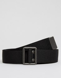 Abercrombie And Fitch Fabric Belt In Black Black Navy