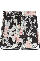 Zimmermann Keeper Floral Print Boardshorts Black