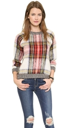 Sea Oversized Plaid Pullover Multi