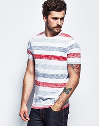Brave Soul Bravesoul Short Sleeve Slup Striped T Shirt White