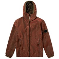 C.P. Company P.Ri.S.M Garment Dyed Zip Arm Lens Jacket Red