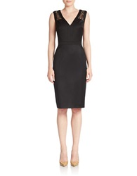 Anne Klein Lace Panel Sheath Dress Black