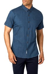 7 Diamonds Midnight Magic Trim Fit Sport Shirt Navy