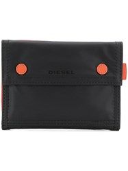 Diesel Press Stud Wallet Black