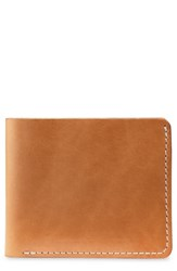 Red Wing Shoes Classic Bifold Leather Wallet Brown Tanned Vegetable
