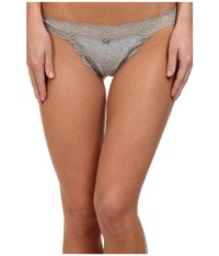 Dkny Downtown Cotton G String Heather Gray Gray Sky Women's Underwear