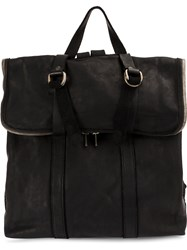 Guidi Foldover Top Backpack Black