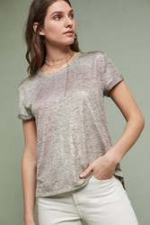 Anthropologie Shimmered Tee Gold