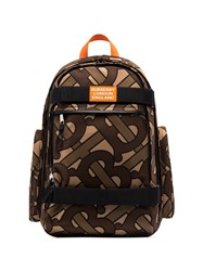 Burberry Brown Cooper Tb Logo Backpack 60