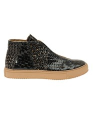 Raparo Woven Hi Top Sneakers Black