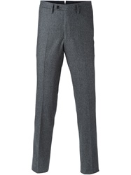 Massimo Piombo Slim Tailored Trousers Grey
