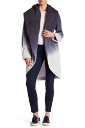 Young Fabulous And Broke Asymmetrical V Neck Long Sleeve Ombre Jacket Blue