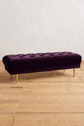 Anthropologie Velvet Mina Bench Mulberry