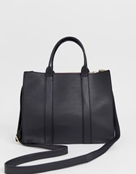 Oasis Tote Bag With Cross Body Strap In Black