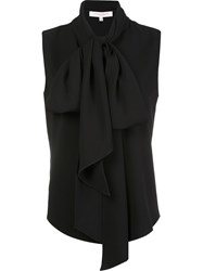 Carolina Herrera Long Tied Blouse Black