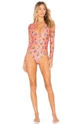 Spell And The Gypsy Collective Posy Long Sleeve One Piece Coral