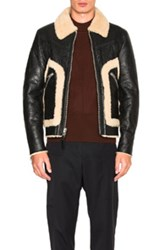 Coach 1941 Shearling Stinger Jacket In Black