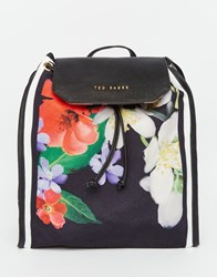 Ted Baker Hilarry Canvas Backpack Black