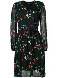 Paul Smith Ps By 'Jewellery' Print Dress Black