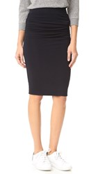 James Perse Double Shirred Skirt French Navy