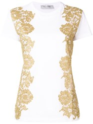 Valentino Metallic Lace T Shirt White